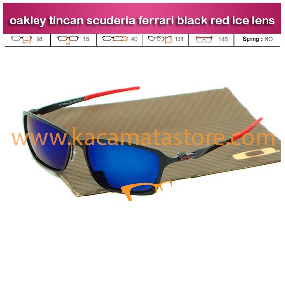 jual kacamata oakley lensa biru tincan scuderia ferrari black red ice lens