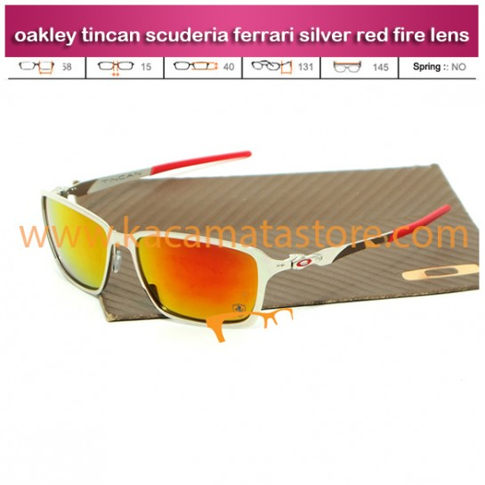 jual model kacamata oakley terbaru 2015 tincan scuderia ferrari silver red fire lens