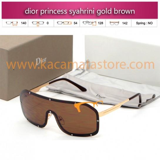 jual kacamata syahrini dior princess syahrini gold brown