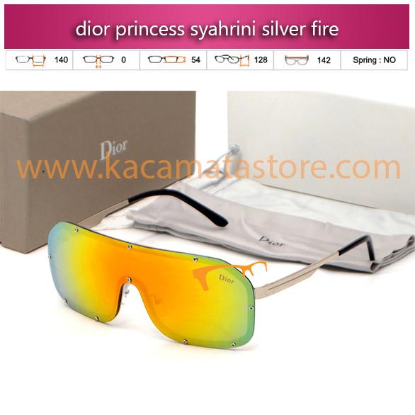 model kacamata syahrini dior princess syahrini silver fire