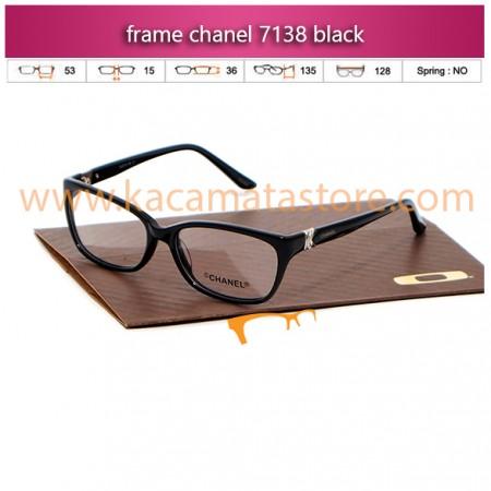 jual kacamata baca dan frame kacamata murah chanel 7138 black