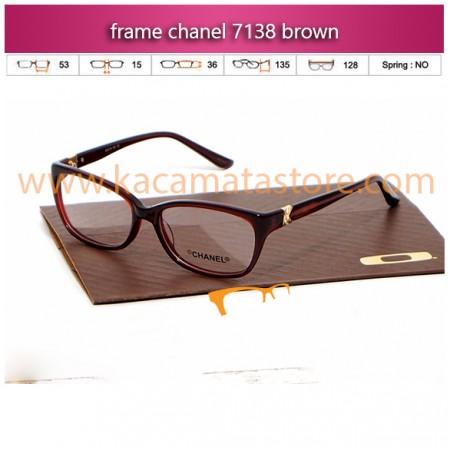 jual kacamata online dan frame kacamata murah chanel 7138 brown