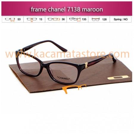 harga frame kacamata minus chanel 7138 maroon