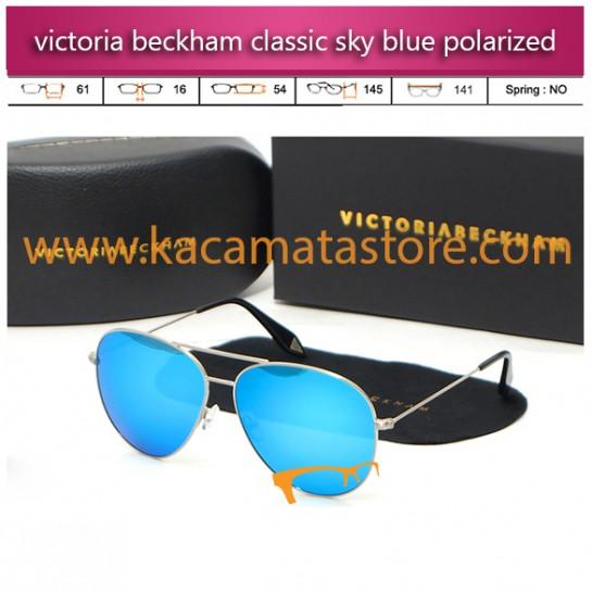 jual kacamata wanita online murah victoria beckham aviator classic sky blue polarized