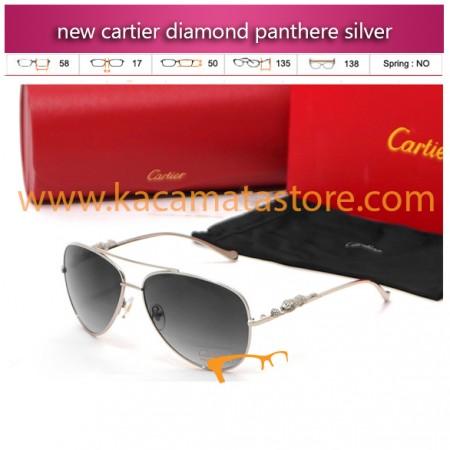 kacamata gaya pria murah online new cartier diamond panthere silver