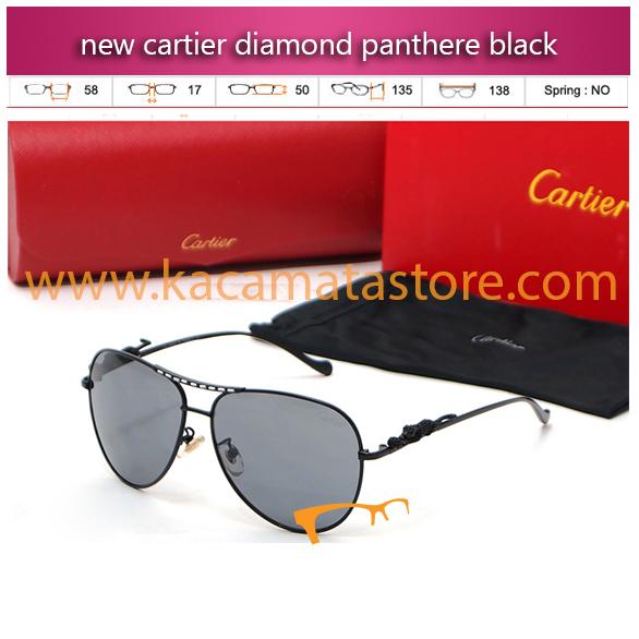jual kacamata gaya pria murah new cartier diamond panthere black