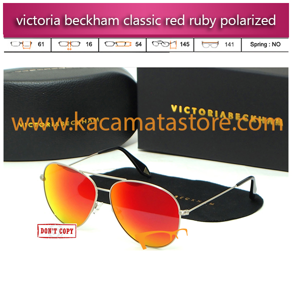grosir model kacamata wanita terbaru victoria beckham aviator classic red ruby polarized