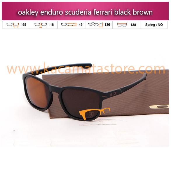 grosir kacamata oakley enduro scuderia ferrari black brown