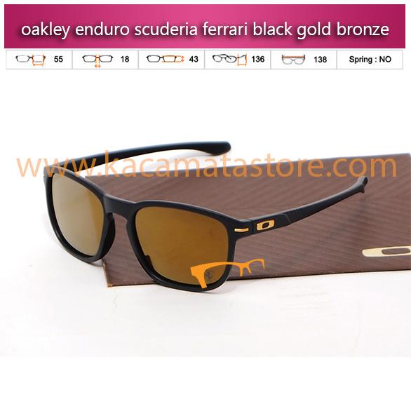 jual kacamata oakley murah enduro scuderia ferrari black gold bronze