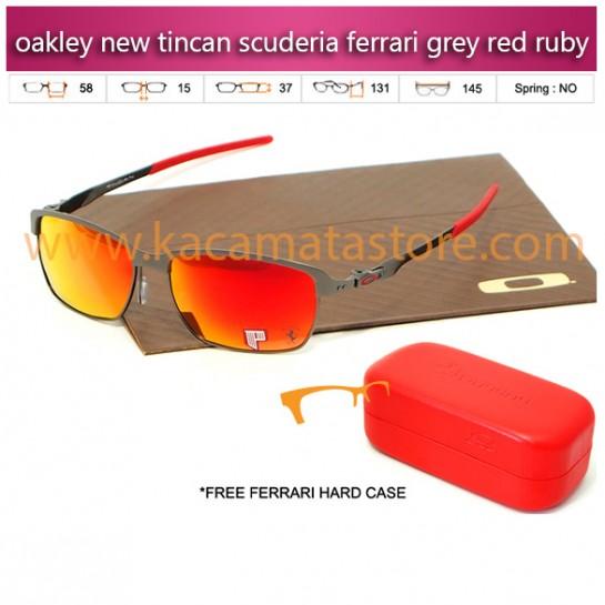 jual kacamata oakley terbaru new tincan scuderia ferrari grey red ruby