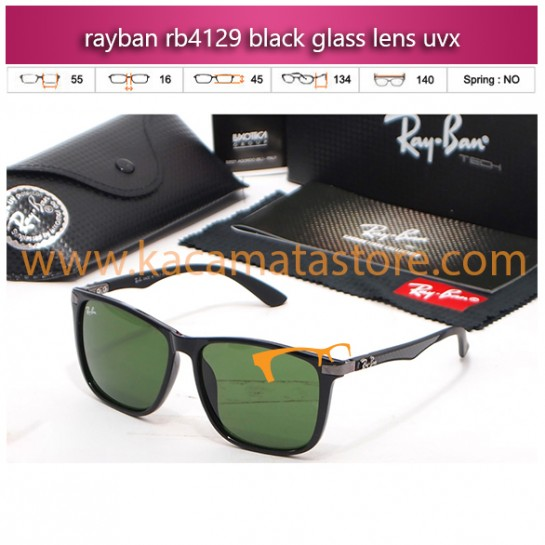 jual kacamata rayban murah rb4129 black glass lens uvx