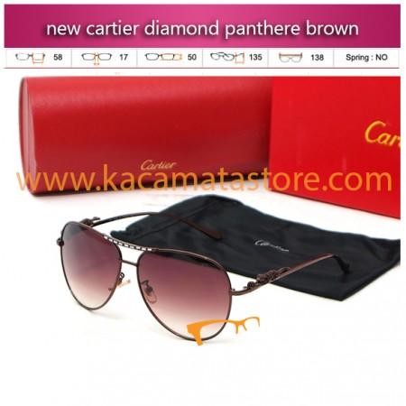 toko kacamata gaya online new cartier diamond panthere brown