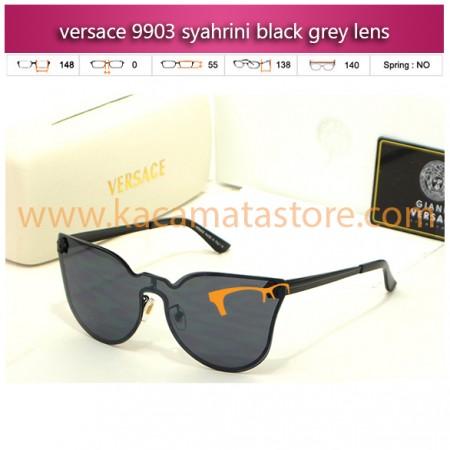 jual kacamata syahrini terbaru versace 9903 syahrini black grey lens
