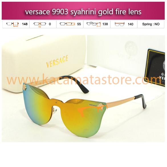 harga kacamata syahrini versace 9903 syahrini gold fire lens