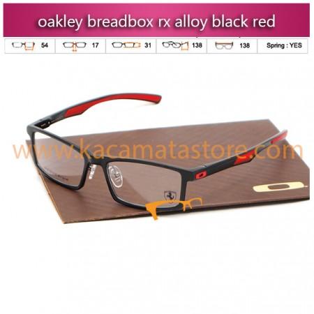 jual kacamata online oakley breadbox rx alloy black red