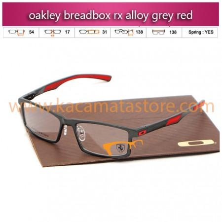 jual kacamata online oakley breadbox rx alloy grey red
