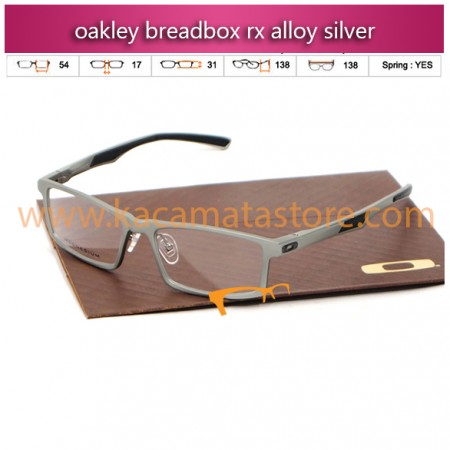 jual kacamata online murah oakley breadbox rx alloy silver