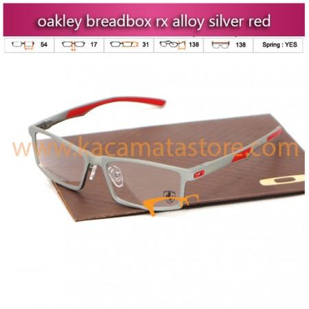 jual kacamata online oakley breadbox rx alloy silver red