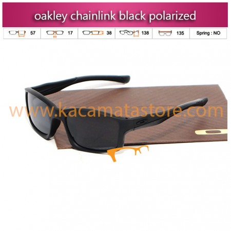 kacamata oakley model terbaru chainlink black polarized