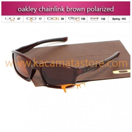 harga kacamata oakley murah chainlink brown polarized