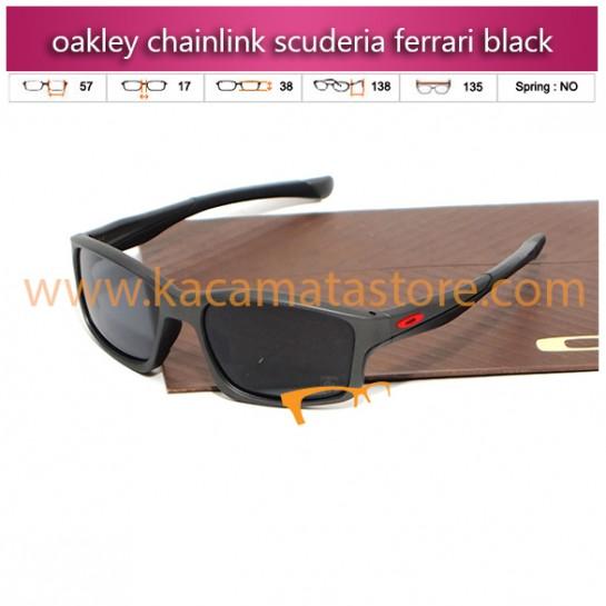 kacamata oakley oakley terlaris chainlink scuderia ferrari black