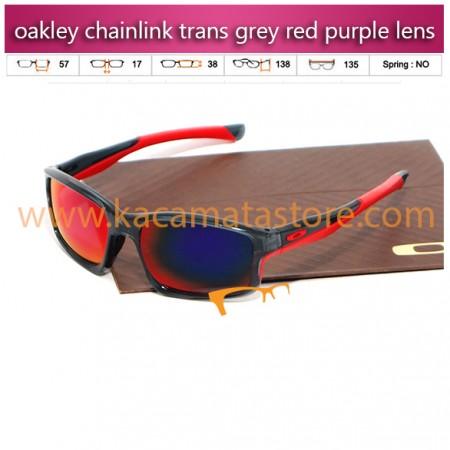 jual kacamata oakley murah chainlink trans grey red purple lens