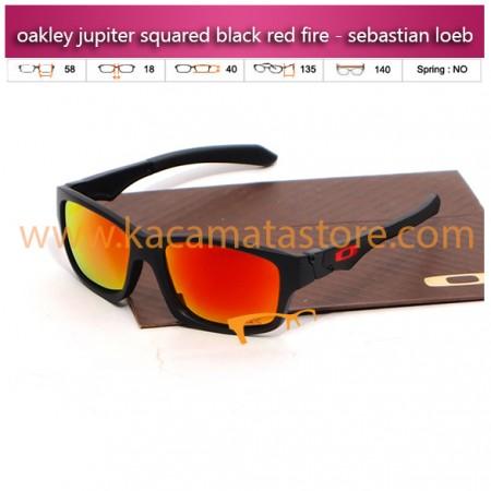 jual kacamata oakley murah jupiter squared black red fire - sebastian loeb