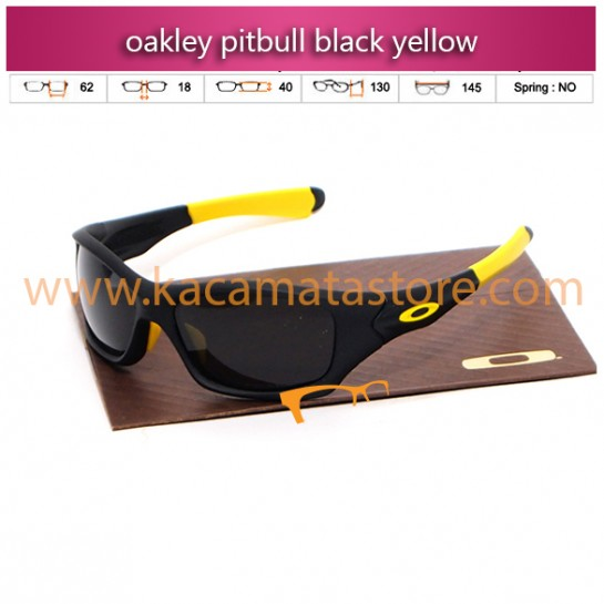jual kacamata oakley murah pitbull black yellow
