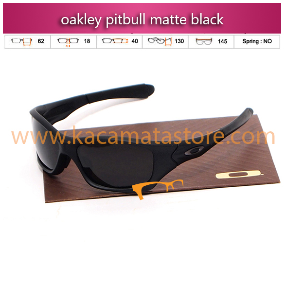 grosir jual kacamata oakley terbaru pitbull matte black