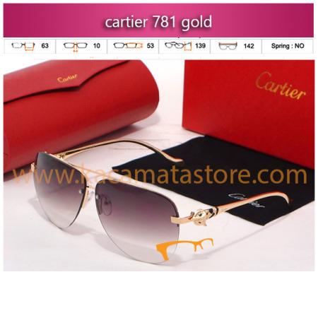 jual kacamata gaya murah cartier 781 gold