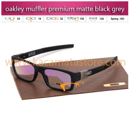frame kacamata murah oakley muffler premium matte black grey toko jual kacamata online harga model bingkai frame minus oakley pria wanita branded kw terbaru