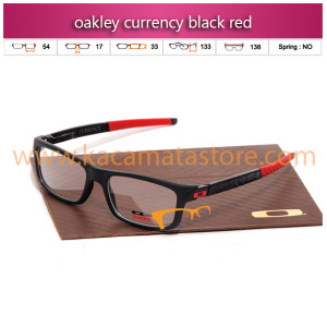 frame kacamata oakley currency black red toko jual kacamata online harga frame minus pria wanita branded kacamata rayban kw murah terbaru 2015