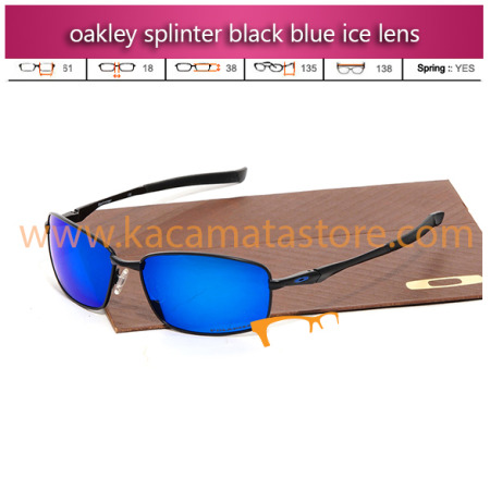 jual kacamata oakley splinter black blue ice lens toko kacamata online harga model frame minus pria wanita branded kacamata rayban kw murah terbaru 2015
