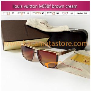 kacamata wanita louis vuitton lv838f brown cream toko kacamata online harga model frame minus branded kacamata oakley rayban kw murah terbaru 2015