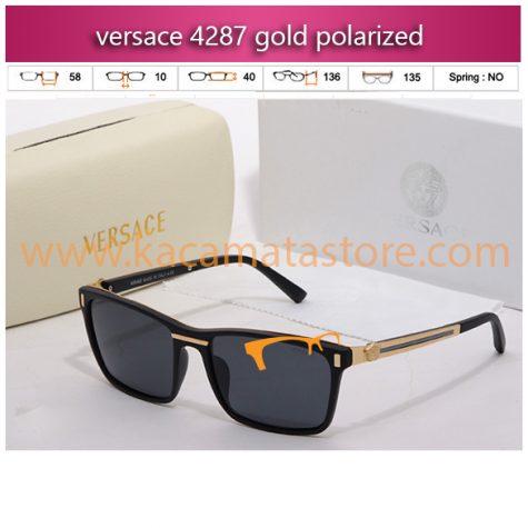 kacamata gaya versace 4287 gold polarized jual kacamata online harga model bingkai frame minus oakley pria wanita branded kw murah terbaru