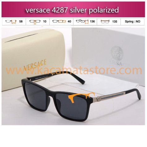 kacamata gaya versace 4287 silver polarized jual kacamata online harga model bingkai frame minus oakley pria wanita branded kw murah terbaru