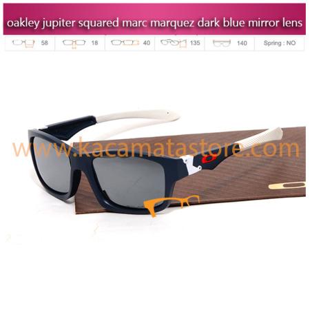 kacamata oakley murah jupiter squared marc marquez dark blue mirror lens