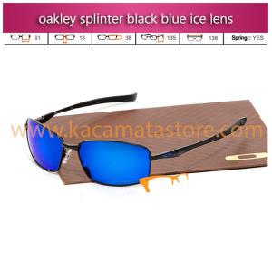 jual kacamata oakley splinter black blue ice lens