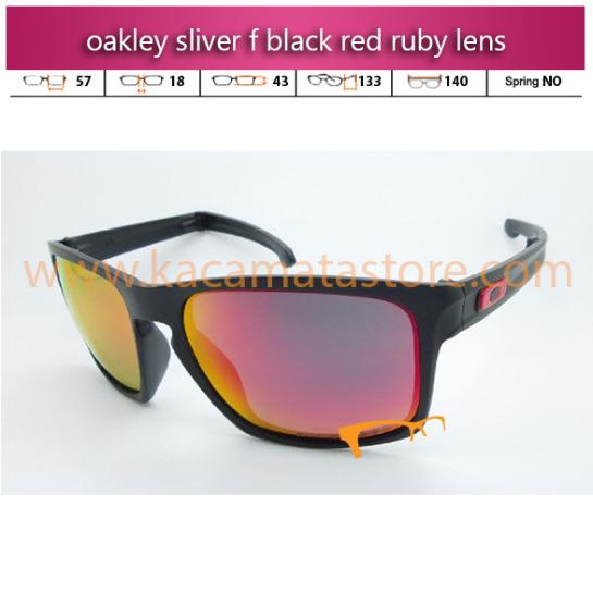 oakley sliver f black red ruby lens harga kacamata oakley murah