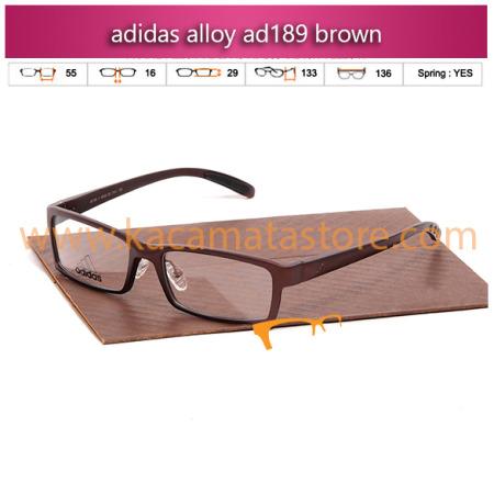 jual frame kacamata minus adidas alloy ad189 brown toko kacamata online harga kacamata pria wanita branded kacamata kw murah terbaru 2015