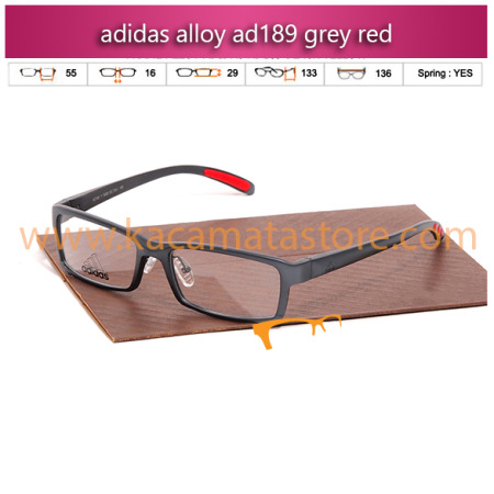 jual frame kacamata minus adidas alloy ad189 grey red toko kacamata online harga kacamata pria wanita branded kacamata kw murah terbaru 2015