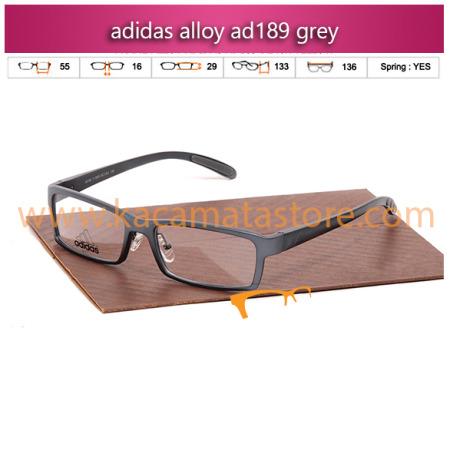 jual frame kacamata minus adidas alloy ad189 grey toko kacamata online harga kacamata pria wanita branded kacamata kw murah terbaru 2015