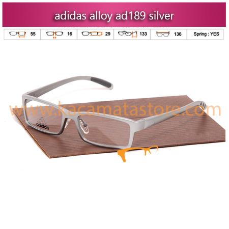 jual frame kacamata minus adidas alloy ad189 silver toko kacamata online harga kacamata pria wanita branded kacamata kw murah terbaru 2015