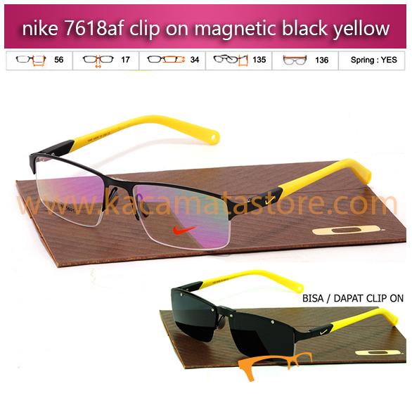 jual kacamata clip on terbaru nike 7618 black yellow jual kacamata baca online