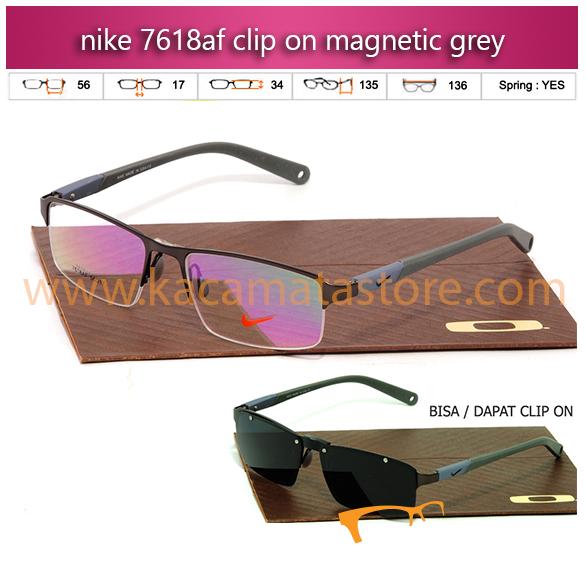 jual kacamata clip on terbaru nike 7618 grey jual kacamata baca online