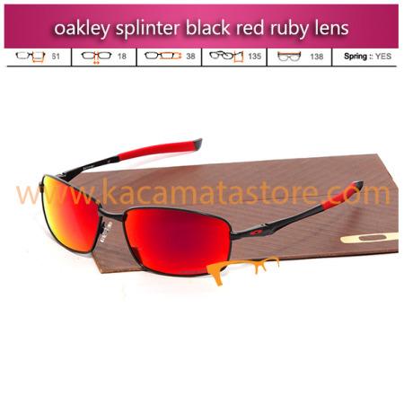 jual kacamata oakley splinter black red ruby lens toko kacamata online harga model frame minus pria wanita branded kacamata rayban kw murah terbaru 2015
