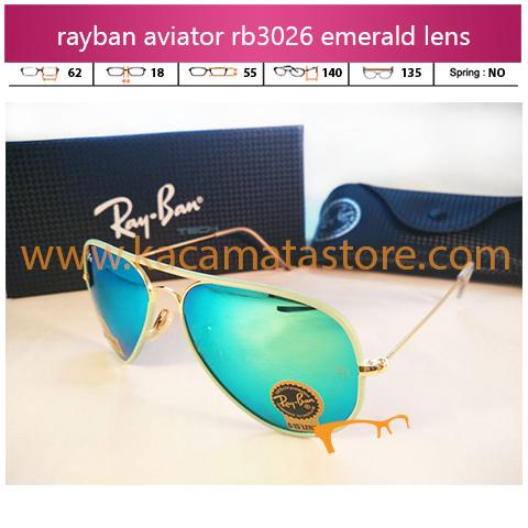 kacamata rayban aviator terbaru rb3026 candy emerald pria wanita