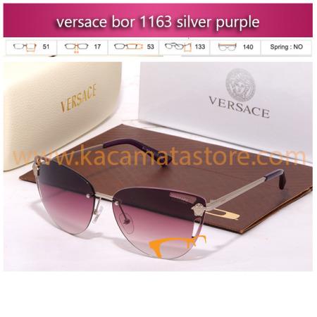 jual kacamata wanita terbaru 2015 merek versace bor 1163 silver purle