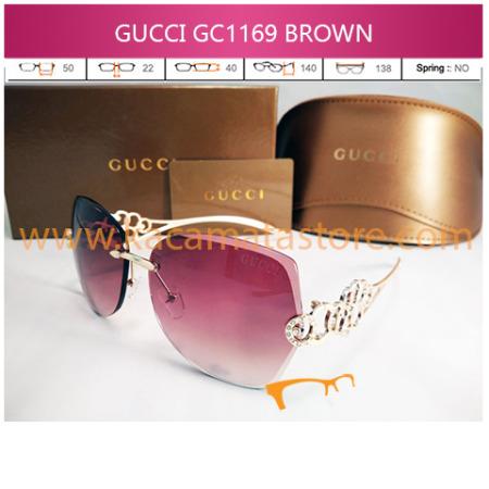 model kacamata wanita terbaru gucci 1169 brown