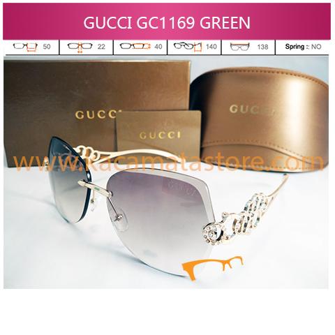 harga kacamata wanita terbaru murah gucci 1169 green